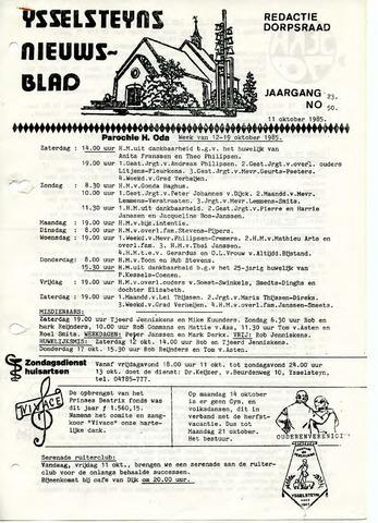 Ysselsteyns Nieuwsblad 1985-10-11