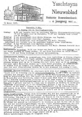 Ysselsteyns Nieuwsblad 1973-03-16