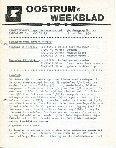 Oostrum's Weekblad 1976-10-21