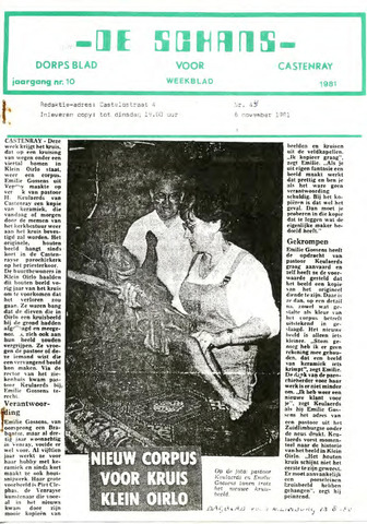 Castenrays dorpsblad De Schans 1981-11-06