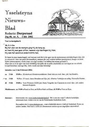Ysselsteyns Nieuwsblad 2002-02-01