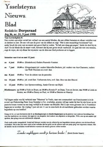 Ysselsteyns Nieuwsblad 1998-06-05