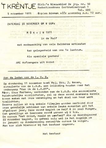 Oirlo's dorpsblad 't Krèntje 1971-11-05