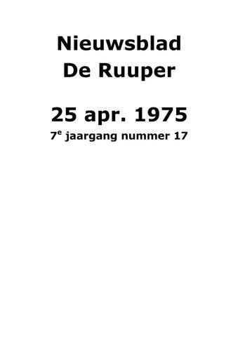 Dorpsblad Leunen-Veulen-Heide 1975-04-25