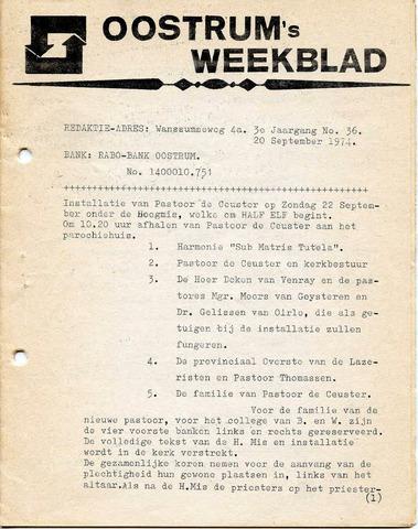 Oostrum's Weekblad 1974-09-20