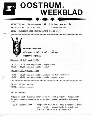 Oostrum's Weekblad 1987-02-12