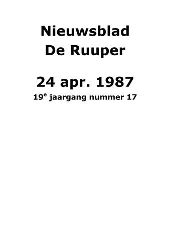 Dorpsblad Leunen-Veulen-Heide 1987-04-24