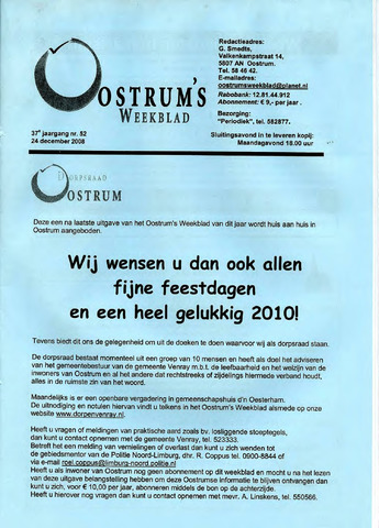 Oostrum's Weekblad 2009-12-24