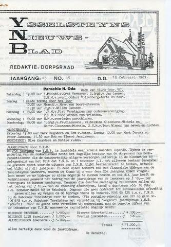 Ysselsteyns Nieuwsblad 1987-02-13