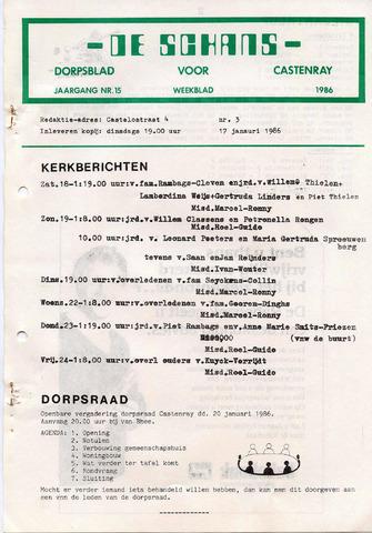 Castenrays dorpsblad De Schans 1986-01-17