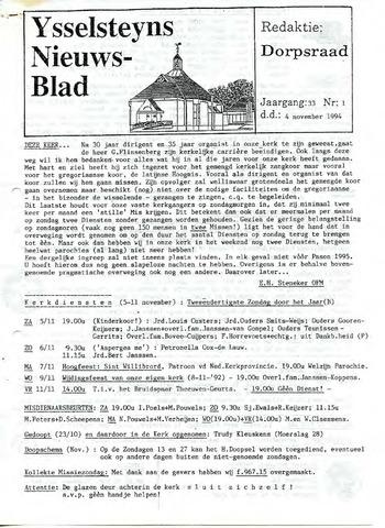 Ysselsteyns Nieuwsblad 1994-11-04