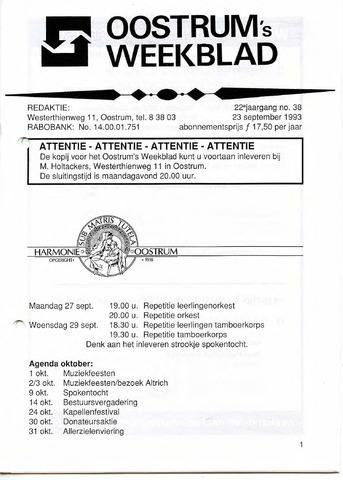 Oostrum's Weekblad 1993-09-23