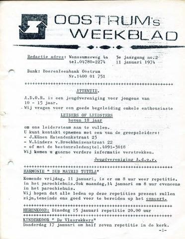 Oostrum's Weekblad 1974-01-11
