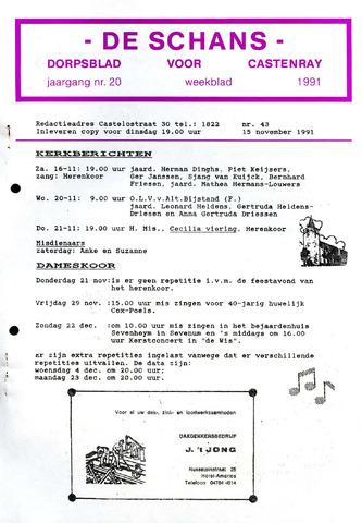 Castenrays dorpsblad De Schans 1991-11-15