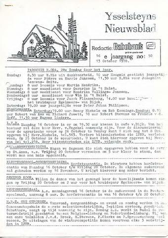Ysselsteyns Nieuwsblad 1978-10-13