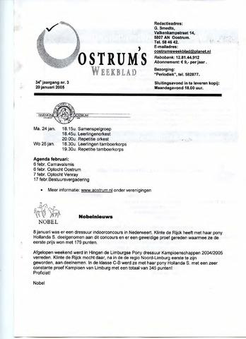 Oostrum's Weekblad 2005-01-20