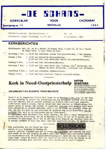 Castenrays dorpsblad De Schans 1984-11-02