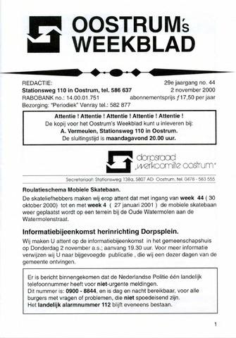 Oostrum's Weekblad 2000-11-02