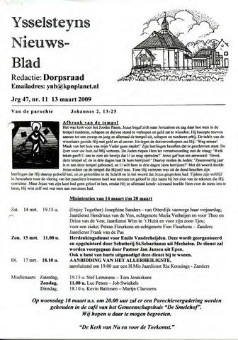 Ysselsteyns Nieuwsblad 2009-03-13