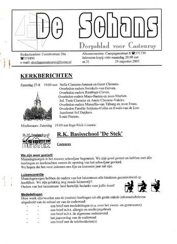 Castenrays dorpsblad De Schans 2005-08-24