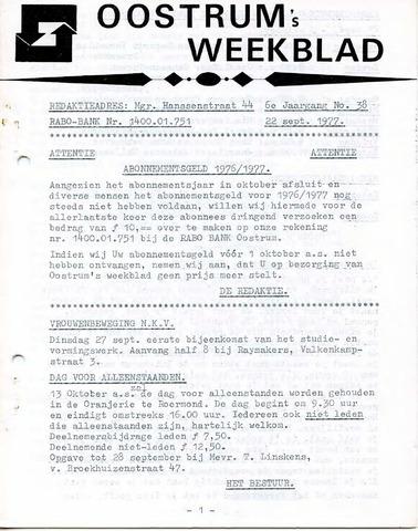 Oostrum's Weekblad 1977-09-22