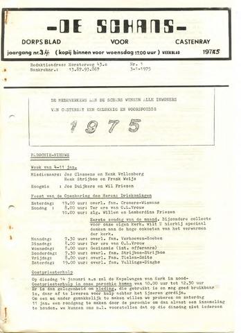Castenrays dorpsblad De Schans 1975-01-03
