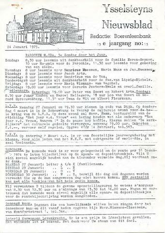 Ysselsteyns Nieuwsblad 1975-01-24