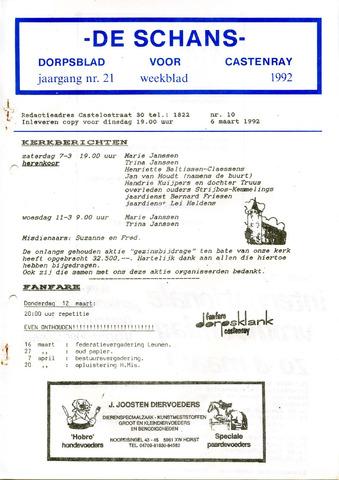 Castenrays dorpsblad De Schans 1992-03-06