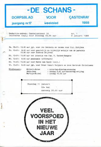 Castenrays dorpsblad De Schans 1988