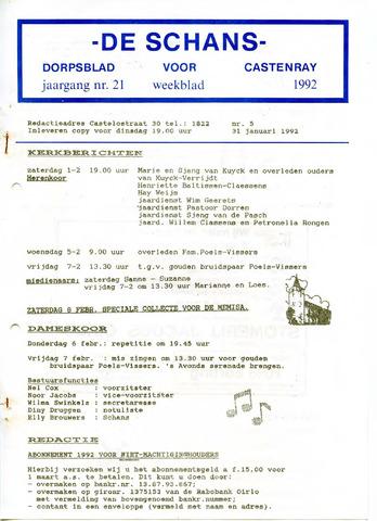 Castenrays dorpsblad De Schans 1992-01-31