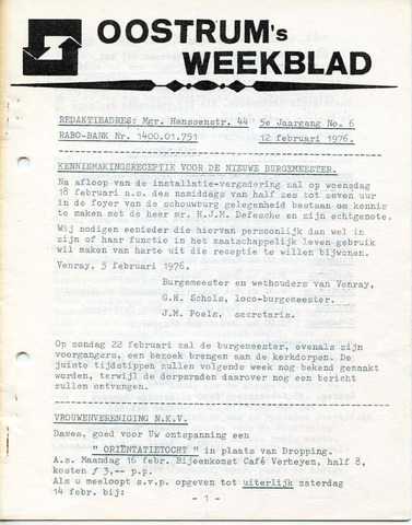 Oostrum's Weekblad 1976-02-12