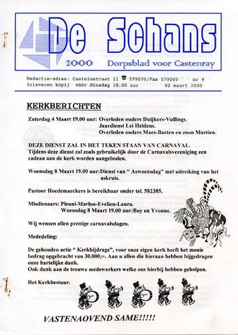 Castenrays dorpsblad De Schans 2000-03-02