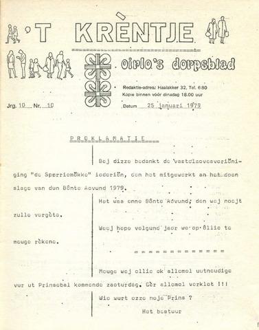 Oirlo's dorpsblad 't Krèntje 1979-01-25