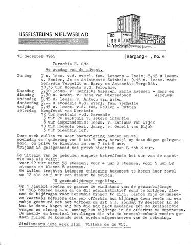Ysselsteyns Nieuwsblad 1965-12-16