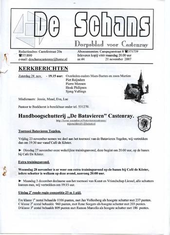 Castenrays dorpsblad De Schans 2007-11-21