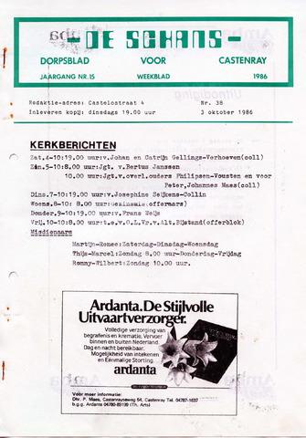 Castenrays dorpsblad De Schans 1986-10-03