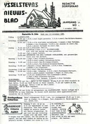 Ysselsteyns Nieuwsblad 1985-11-01