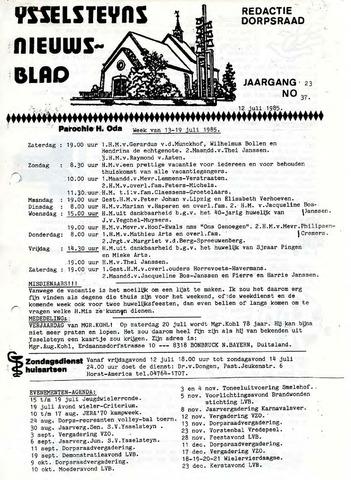 Ysselsteyns Nieuwsblad 1985-07-12