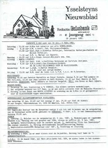 Ysselsteyns Nieuwsblad 1982-01-29