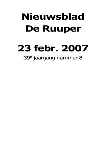Dorpsblad Leunen-Veulen-Heide 2007-02-23