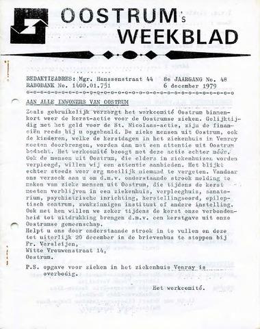 Oostrum's Weekblad 1979-12-06