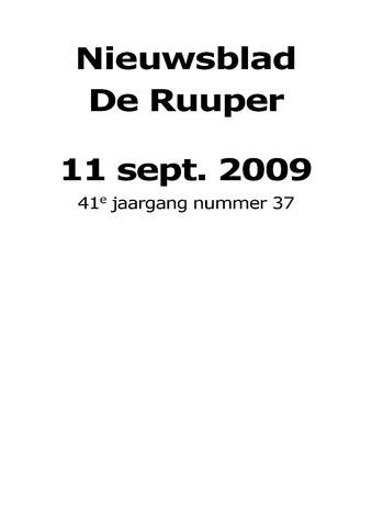 Dorpsblad Leunen-Veulen-Heide 2009-09-11