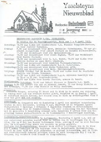 Ysselsteyns Nieuwsblad 1979-03-30