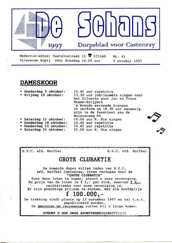Castenrays dorpsblad De Schans 1997-10-09