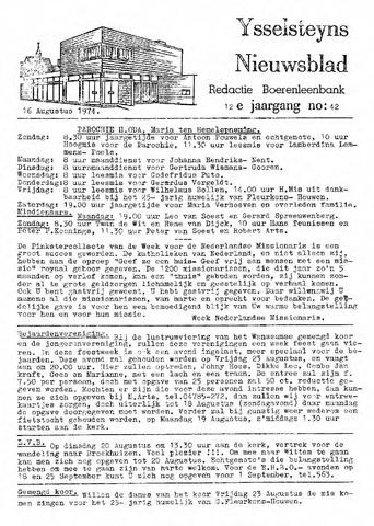 Ysselsteyns Nieuwsblad 1974-08-16
