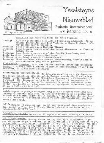 Ysselsteyns Nieuwsblad 1975-08-15