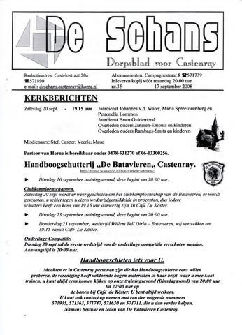 Castenrays dorpsblad De Schans 2008-09-17