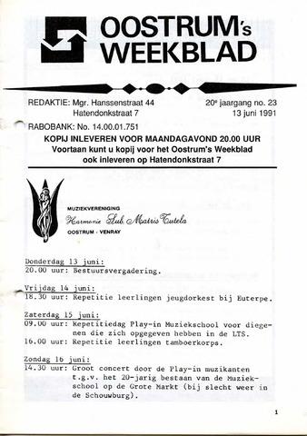 Oostrum's Weekblad 1991-06-13