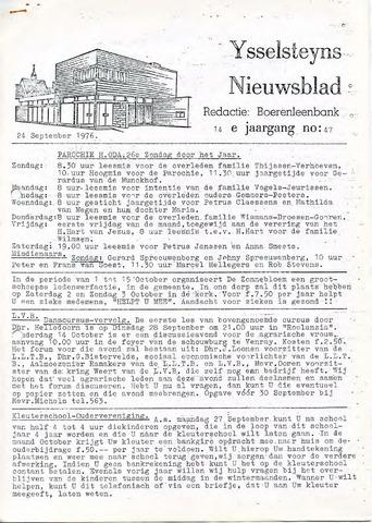 Ysselsteyns Nieuwsblad 1976-09-24