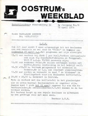 Oostrum's Weekblad 1974-04-19